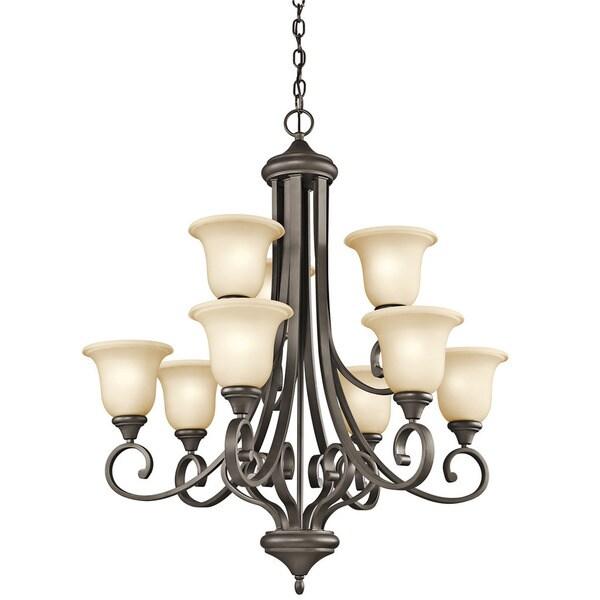 Kichler Lighting Monroe Collection 9-light 2-tier Olde Bronze Chandelier