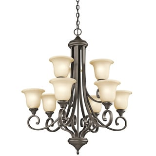 Kichler Lighting Monroe Collection 9-light 2-tier Olde Bronze Chandelier