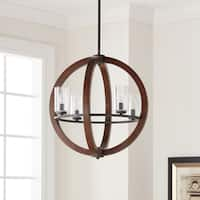 Kichler Lighting Grand Bank Collection 4-light Auburn Stain Chandelier