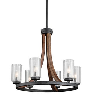 Kichler Lighting Grand Bank Collection 6-light Auburn Stain Chandelier