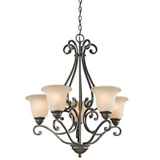Link to Copper Grove Damiano 5-light Olde Bronze Chandelier Similar Items in Chandeliers