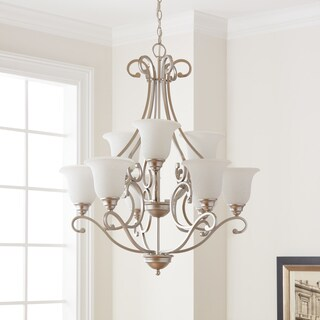 Copper Grove Damiano 9-light Brushed Nickel Chandelier