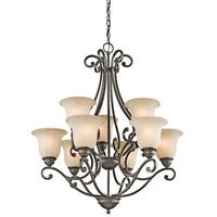 Kichler Lighting Camerena Collection 9-light Olde Bronze Chandelier