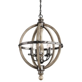 Kichler Lighting Evan Collection 5-light Distressed Antique Gray Chandelier