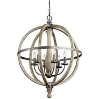 Kichler Lighting Evan Collection 6-light Distressed Antique Gray Chandelier
