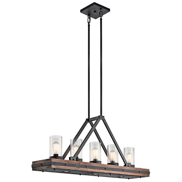 Kichler lighting colerne collection 5 light auburn stain linear kichler lighting colerne collection 5 light auburn stain linear chandelier aloadofball Choice Image