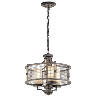 Kichler Lighting Ahrendale Collection 3-light Anvil Iron Chandelier/Semi Flush Mount