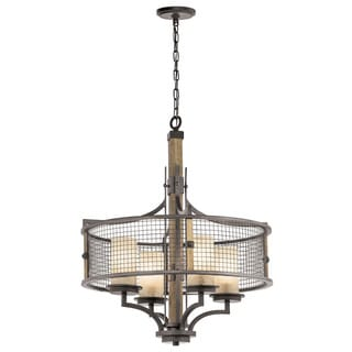 Kichler Lighting Ahrendale Collection 4-light Anvil Iron Chandelier