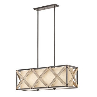 Kichler Lighting Cahoon Collection 3-light Anvil Iron Linear Chandelier