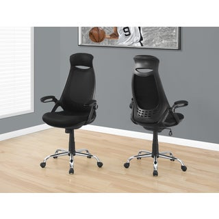 Black Mesh and Chrome High-back Executive Office Chair