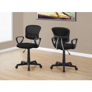 Black Mesh Juvenile Multi-position Office Chair