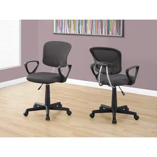 Grey Mesh Juvenile Adjustable Office Chair