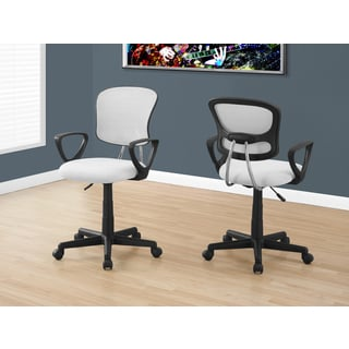White Nylon Mesh Juvenile Multi-position Office Chair