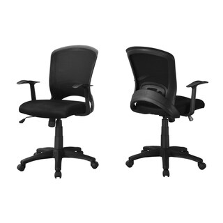 Black Mesh Mid-back Multiposition Office Chair