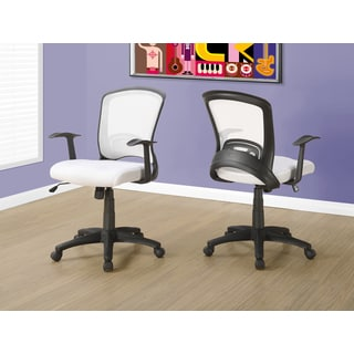 White Mesh Mid-back Multi-position Office Chair
