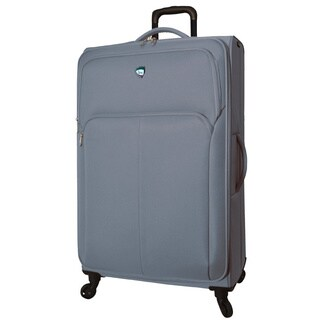 Mia Toro ITALY Vernazza Polyester and Nylon 31-inch Expandable Spinner Upright Suitcase