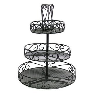 Ikee Design Black Metal 3-tier Rotating Tabletop Rack