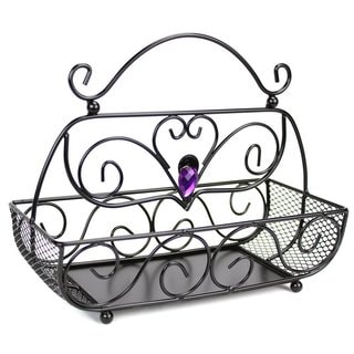 Black Metal Wire Cosmetic Organizer