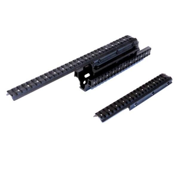 Sun Optics Black Aluminum Quad Rail