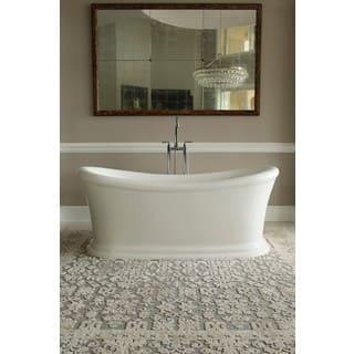 End Drain Freestanding Tub. Signature Bath White Acrylic Freestanding Tub Bathtubs For Less  Overstock com