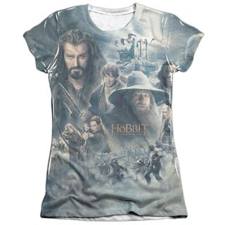 Hobbit/Epic Poster Short Sleeve Junior Poly/Cotton Crew in White