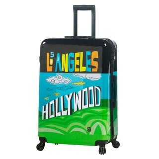 Mia Toro ITALY Lebo Destination USA Multicolor Polycarbonate 28-inch Fashion Hardside Spinner Upright Suitcase