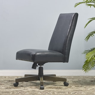 Vancouver Black/Brown Bonded Leather Office Side Chair