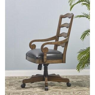 Budapest Brown/Black Wood/Veneer Office Armchair