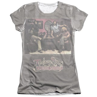 Doobie Brothers/Toulouse Street Short Sleeve Junior Poly/Cotton Crew in White