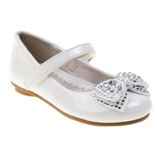Laura Ashley Girls White Dress Shoes
