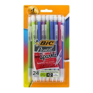 Bic Xtra Sparkle HB #2 Multicolor Plastic Barrel 0.7-millimeter Mechanical Pencils (Case of 24)
