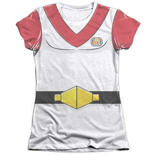 Voltron/Keith Costume (Front/Back Print) Short Sleeve Junior 65/35 Poly/Cotton Crew in White