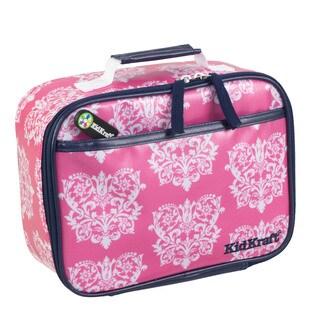 Kid Kraft Pink Damask Polyester Lunch Box