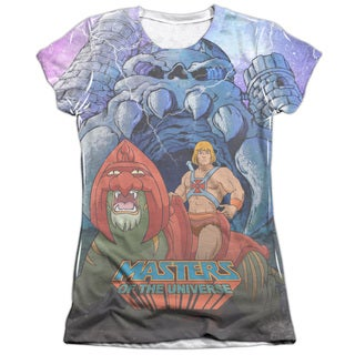 Masters Of The Universe/Protecting Grayskull Short Sleeve Junior 65/35 Poly/Cotton Crew in White