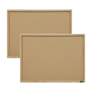 Quartet Cork Oak Frame Bulletin Board (Set of 2)