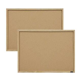 Quartet Cork Oak Frame Bulletin Board (Set of 2) https://ak1.ostkcdn.com/images/products/11890857/P18786195.jpg?impolicy=medium