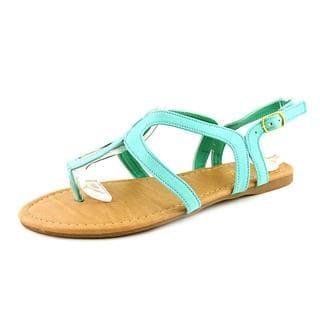 Anna Women's Pop-5 Green Polyurethane Sandals