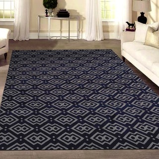 Admire Home Living Bronte Disc Navy Area Rug (7'10 x 10'6)