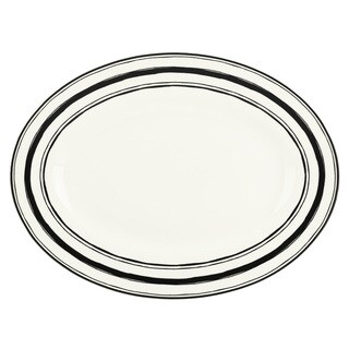 Lenox Around the Table Striped 16-inch Stoneware Platter