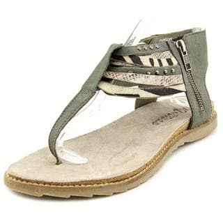 Matisse Women's 'Porsha' Grey Leather Sandals