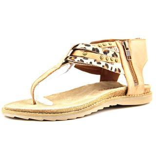 Matisse Women's 'Porsha' Tan Leather T-strap Sandals