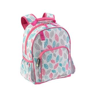 Kid Kraft Leaves Pattern Pink/Blue/Grey/White Polyester Backpack