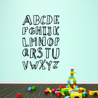 Alphabet Doodle' 40 x 60-inch Vinyl Wall Decal
