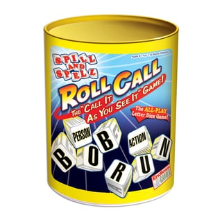 Endless Games Spill and Spell Roll Call Letter Dice Game