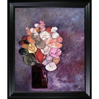 Pol Ledent 'Still Life (452120)' Hand Painted Framed Canvas Art