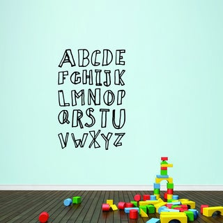 Alphabet Doodle' 32 x 48-inch Vinyl Wall Decal