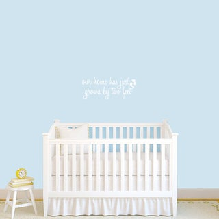 Grown by Two Feet' 24 x 10-inch Baby Nursery Wall Decal