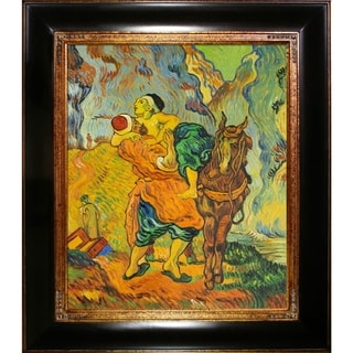 Vincent Van Gogh 'The Good Samaritan (after Delacroix), 1890' Hand Painted Framed Canvas Art