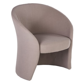 Hans Andersen Home Calista Grey Wood/Fabric Lounge Chair