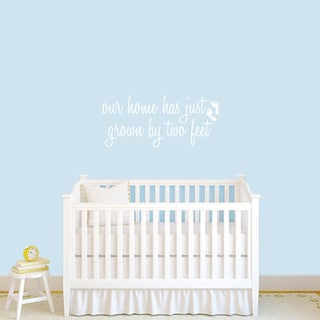 Grown by Two Feet' 36 x 16-inch Baby Nursery Wall Decal